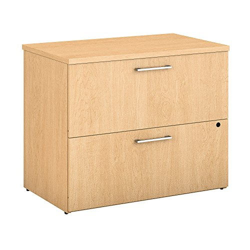 Bush Business Furniture 400 Series 36W 2 Drawer Lateral File Cabinet in Natural Maple