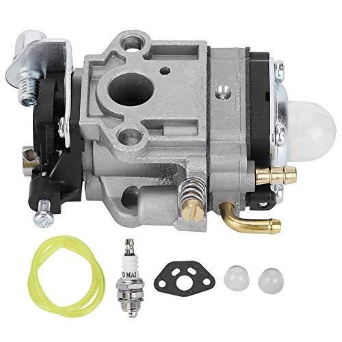 10mm Alluminio Carburatore Carb Kit Accessori Facile installazione Adatto per Weedeater 1E34F 1E36F TU26 TL26 Decespugliatore 26cc 33cc