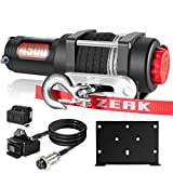 ZEAK 4500lb Electric Synthetic Rope ATV/UTV Winch Kit for Towing Off Roading