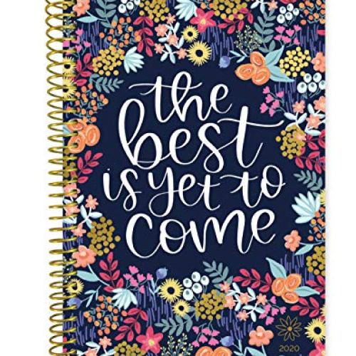 """Year Day Planner - 6"""" x 8.25"""" - Weekly/Monthly Agenda Organizer Book with Tabs & Flexible Soft Cover"""