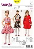 Burda 9379 - Modèle filles robe avec jupe cloche et motif à carreaux (Kids,...