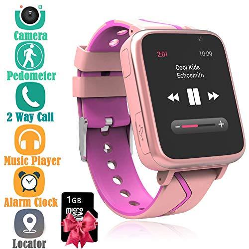 Orologio Telefono Musica Bambini - Lettore MP3 Smartwatch Phone con LBS Tracker SOS Fotocamera Chat...