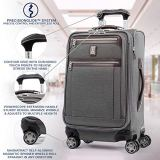 Travelpro Platinum Elite Softside Expandable Spinner Wheel Luggage, Vintage Grey, Carry-On 21-Inch