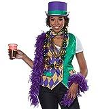 California Costumes Women's Mardi Gras Vest Kit-Adult Woman, Multi, Large/Extra Large