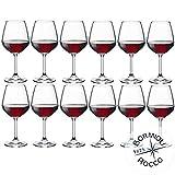 Bormioli Rocco-Divino 53 - Lot de 12verres à vin rouge...
