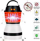 Lampe anti-moustique UV Bug Zapper Lanterne de camping...
