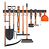 SEDY 64-Inch Adjustable Storage System, Wall Mount Tool Organizer, Tool Hangers for Mop and Broom Holder Shovel, Rake, Broom, Mop Holder