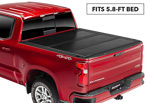 Undercover Flex Hard Folding Truck Bed Tonneau Cover   FX11020   Fits 2019-20 New Body Style Chevrolet Silverado/GMC Sierra 1500 (does not fit Carbon Bed) 5'8' Bed