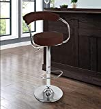 STYLBASE Height Adjustable Bar|Cafeteria Stool Chair, Black