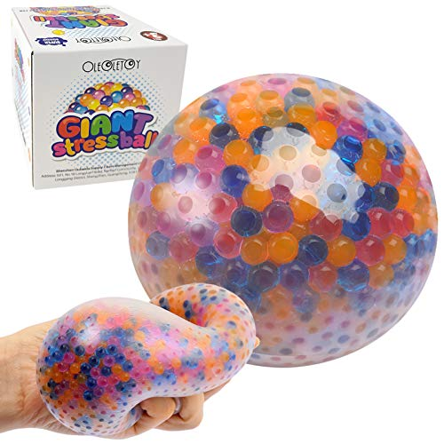 Giant Stress Ball, Colorful Gel Water Beads Ball,...