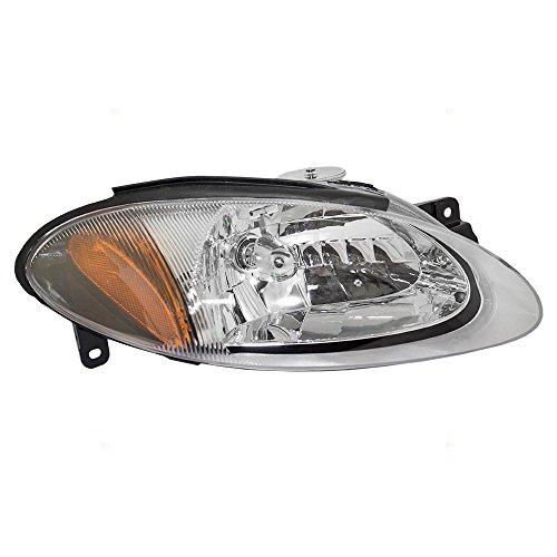 Brock Replacement Passengers Halogen Combination Headlight Headlamp Compatible with 98-03 Escort ZX2 Coupe XS4Z13008CA