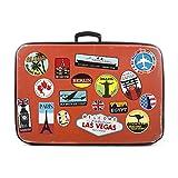 17x Bagage Autocollants valises étiquettes de Voyage Vintage rétro...