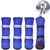 HiPaw Winter Water Resistant Dog Boots Nonslip Rubber Sole for Snow Rain M