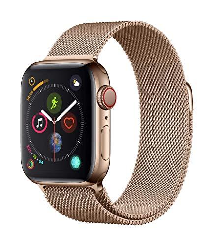 Apple Watch Series 4 GPS + Cellular, 40mm Aluminiumgehäuse, Space Grau, mit...
