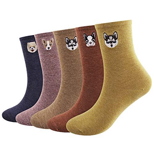 Ofeily Calze da donna cotone Casuale Divertente Animale carino Modellato Calzini Arte Funky Colorato Cartoon Calzini regalo (ZYX-00103C)