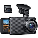 APEMAN 2K &1080P Dual Dash Cam, 1520P max, Support 128GB, Front and Rear Camera for Cars with 3 Inch IPS Screen, Driving Recorder with IR Sensor Night Vision, Motion Detection, Parking Monitor