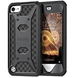 ULAK iPod Touch 7 Case, iPod Touch 6th 5th Generation Case, Knox Armor Dual Layer Hybrid Protective Cover with Belt Clip Holster for iPod Touch 7th/6th/5th Generation (Black)