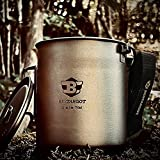 Bestargot Camping Titanium Pot Mug Tasse Extérieure avec Sac Isolation, Titan Camping Vaisselle...