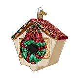 Old World Christmas Birdhouse Glass Blown Ornament