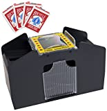 Brybelly 4 Deck Card Shuffler with 4 Decks of Bicycle Cards