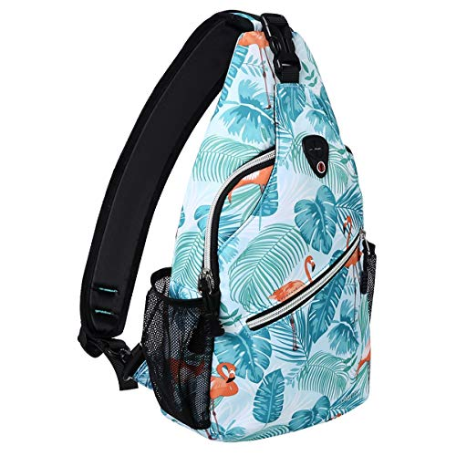 MOSISO Sling Backpack,Travel Hiking Daypack Pattern Rope...