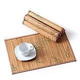 LOVECASA, Set de Table en Bambou 6 Pcs, Napperons Lavable,...