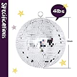 Youdepot 12 Inch Mirror Ball Hanging Disco Lighting Ball for DJ Club Stage Bar Party Wedding Holiday Decoration