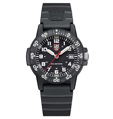 Luminox Navy Seal Watch for Men and Women Black (XS.0301/0300 Series): 100 Meter Water Resistant + Light Weight Case + Hardened Mineral Glas