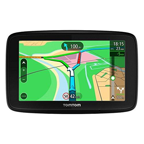 TomTom Via 53 Europa 45 GPS per Auto, Display da 5', Mappe a Vita, Aggiornamento Tramite Wi-Fi, Nero