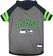 PET HOODIE TEE SHIRT: Officially NFL Licensed! When you have guest, throwing a party, celebrating any occasion, etc… you want to dress your best! Your Dog & Cat also want to be dressed up cute & outstanding! With the Pets First NFL Pet Apparel we've ...