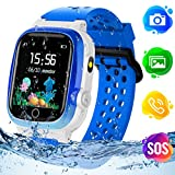 Montre GPS Enfant,TLLAYGM Enfants Smartwatch Étanche Montre Enfant Garcon...