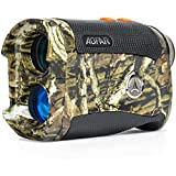AOFAR HX-1200T Range Finder for Hunting Archery, 1200 Yards with Angle and Horizontal Distance, Shooting Wild Waterproof Coma Rangefinder, 6X 25mm, Range and Bow Mode, Free Battery Gift Package
