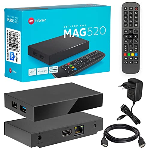 MAG 520 Original Infomir & HB-Digital 4K IPTV Set Top Box...