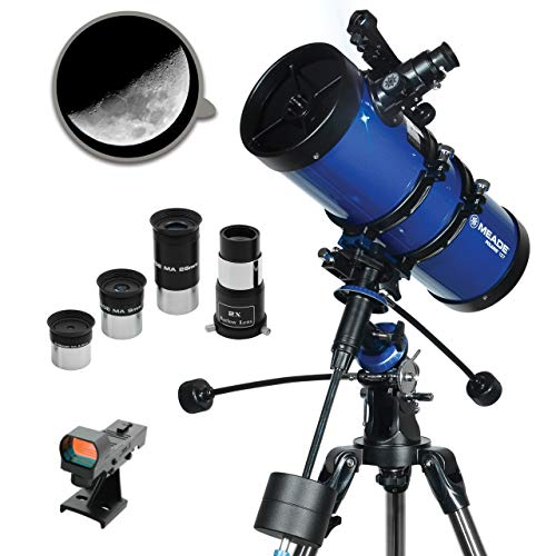 Meade Instruments Polaris 216005 - Telescopio, Reflector Azul, 127mm