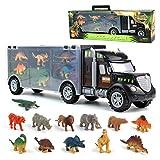Jouet de Camion de Transporteur Voiture de Jouets Dinosaure avec 12 Mini...