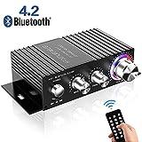 Amplificateur Bluetooth HiFi,DUTISON Mini Ampli Audio Stereo pour Voiture et Maison,amplificateur Son 100w avec télécommande et Audio Double Canal USB(Hors Adaptateur Secteur)
