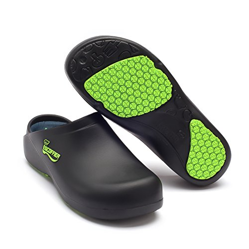 Product Image 1: ESCOFFIER Waterproof Slip Resistant Kitchen Chef Clog - Non Slip Work Mule Shoes for Men Women, Black, 11 Women/9 Men