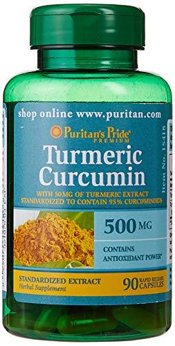 Puritans Pride Turmeric Curcumin 500 Mg Capsules, 90 Count