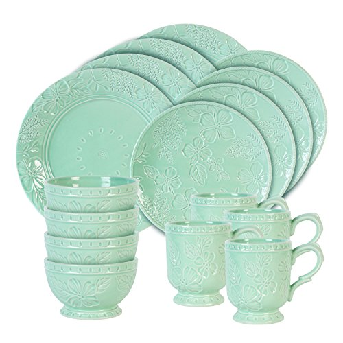 Fitz and Floyd English Garden Dinnerware Set, Standard, Multicolored