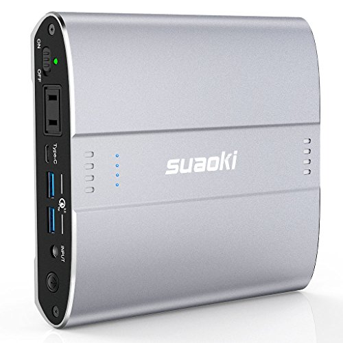 Suaoki D100 Portable Charger AC Outlet Power Bank 26800mAh 100W (110V/120W Max, PD Type-C, QC3.0 USB) External Battery Pack for iPhone, iPad, Galaxy, New MacBook Pro, Camera, Air Travel Outdoor Use