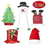 THE TWIDDLERS 5 Chapeaux de Fête - Idéal comme Accessoires de Noël, Amusant pour Les Jeunes et Les Moins Jeunes, Parfait pour Les Costumes et Déguisements