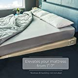 Avana Mattress Elevator with Cotton Cover - Under Bed 7-Inch Incline Foam Lift, Multiple Colors, Queen Size