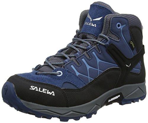 Salewa Unisex-Kinder JR Alp Trainer Mid Gore-TEX Trekking-& Wanderstiefel, Dark...