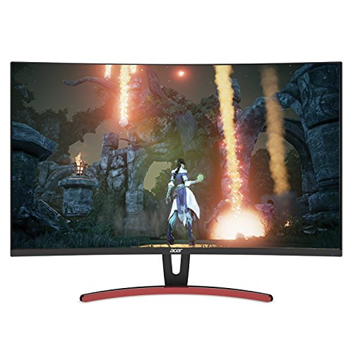 Acer ED323QUR Abidpx 31.5 Inches WQHD (2560 x 1440) Curved 1800R VA Gaming Monitor with AMD Radeon FREESYNC Technology - 4ms; 144Hz Refresh Rate; Display Port, HDMI Port & DVI Port