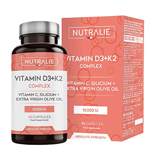 Vitamina D3 10.000 UI + K2 MK7 Alta Dosis | Contribuye al Sistema...