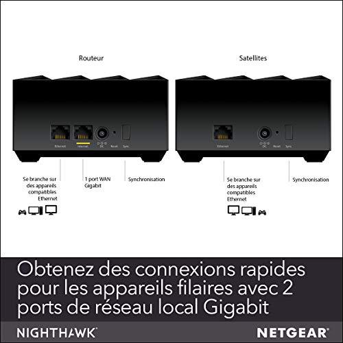 51sx1TTTGpL._SL500_ [Bon plan] !  NETGEAR Système WiFi 6 Mesh Nighthawk (MK62) – Routeur WiFi 6 AX1800 pack de 2 pour un wifi partout dans la maison,...
