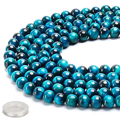 70PCS Natural 8MM Healing Gemstone, Blue Tiger's...