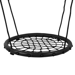 HI SUYI 24″ or 40″ Disc Giant Nest Web Net Tree Swing Monkey Rope Hanging Swing Seat Sets Heavy Duty for Garden Backyard Outdoor for Kids Children Adult