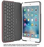 Housse de protection Logitech Canvas avec clavier Bluetooth intégré pour iPad mini 1, 2 et 3 - Rouge (clavier français)