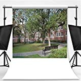 Murphree Hall Student Housing and Courtyard in Gainesville Theme Backdrop Backdrop Background for Photography,Florida,8.2x8.2ft